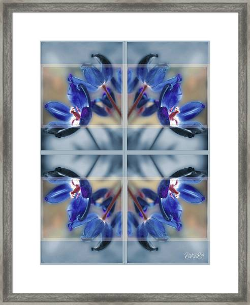 Tulips Of Stained Glass Framed Print