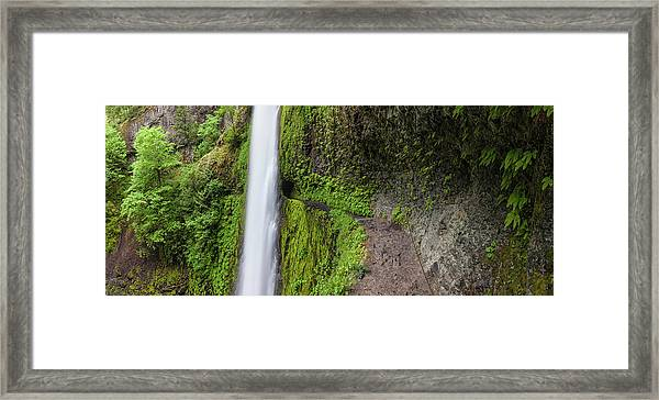 Tunnel Falls Trail Columbia River Gorge Framed Print