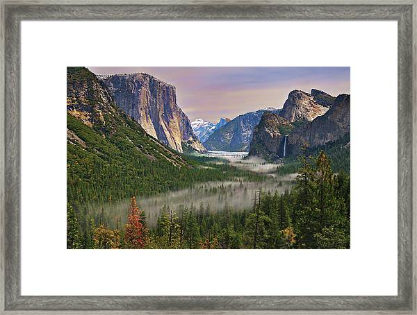 Tunnel View. Yosemite. California Framed Print