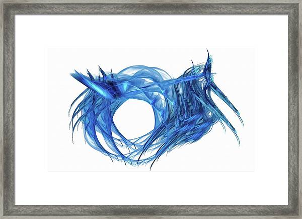 Tunnel Vision Dark Blue Framed Print