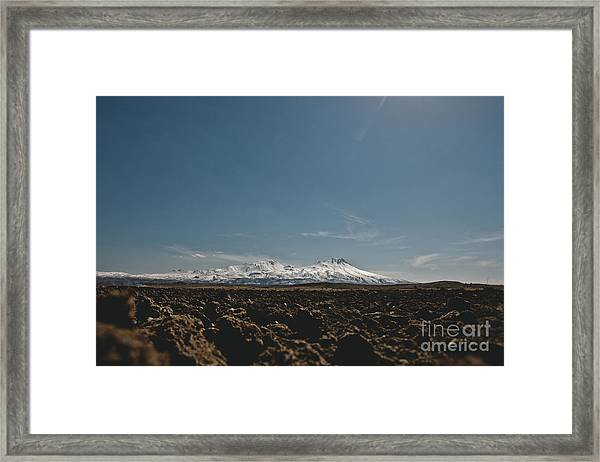 Turkish Landscapes With Snowy Mountains In The Background Framed Print