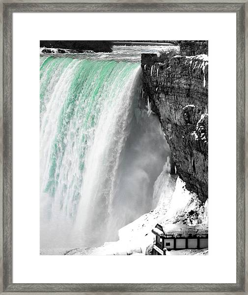 Turquoise Falls Framed Print