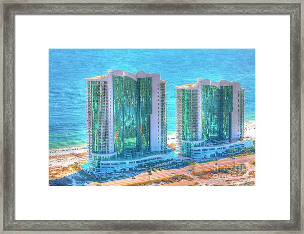 Turquoise Place Framed Print