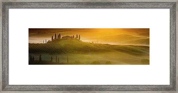 Tuscany In Gold Framed Print