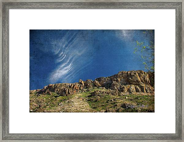 Tuscon Clouds Framed Print