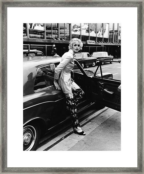 Twiggy Steps From Rolls Framed Print