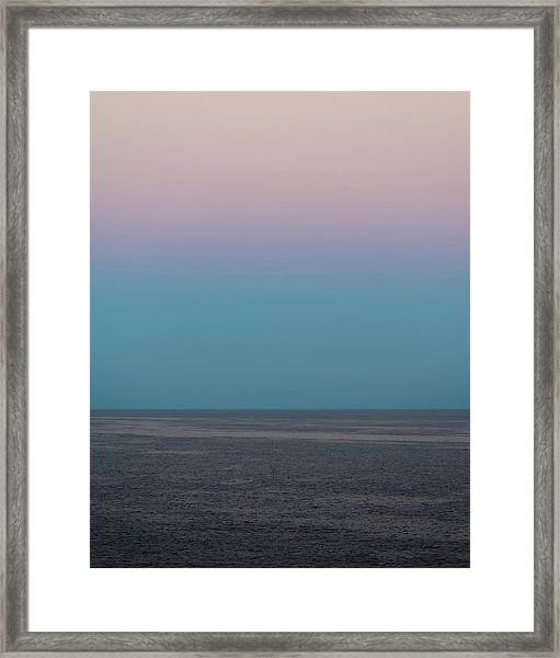 Framed Print featuring the photograph Twilight At Sea by William Dickman