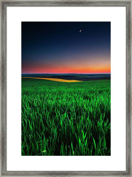 Twilight Fields Framed Print