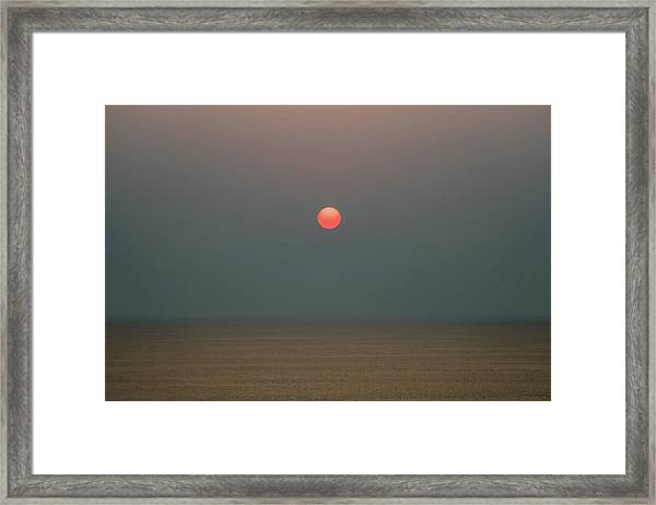 Framed Print featuring the photograph Twilight Sunset At Sea by William Dickman