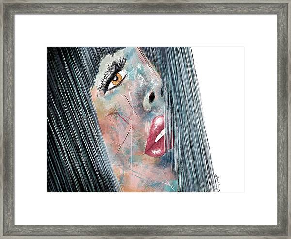 Twilight - Woman Abstract Art Framed Print
