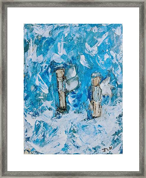 Twin Boy Angels Framed Print