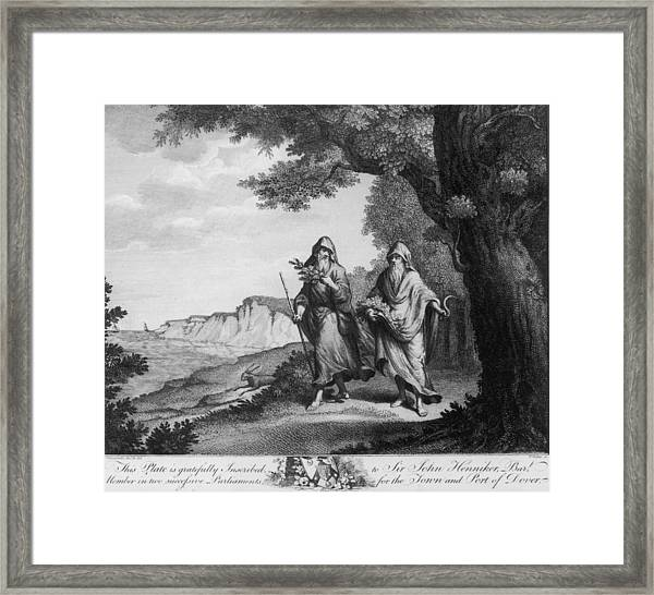 Two British Druids Framed Print