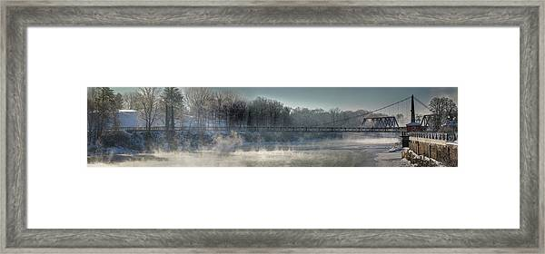 Two Cent Bridge At -5f Framed Print