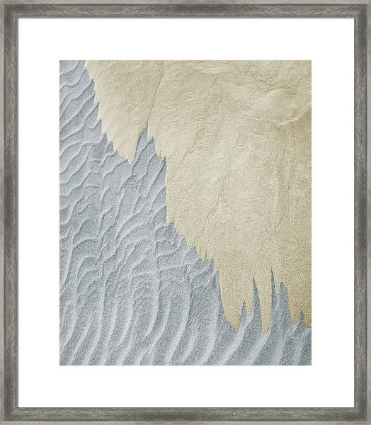 Two Different Colors Of Sand Framed Print