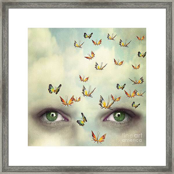 Two Eyes With The Sky And So Many Framed Print