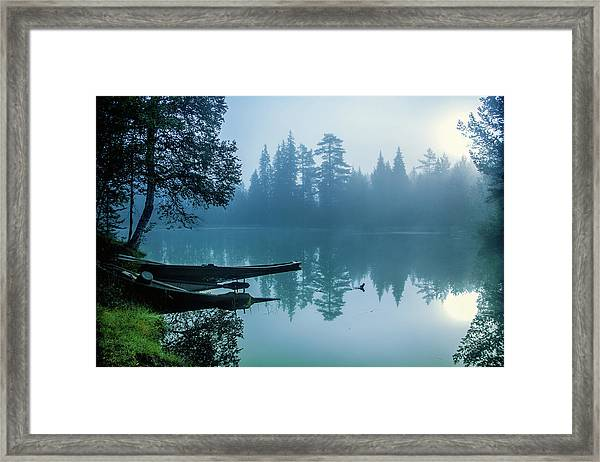 Two Forgotten Boats Framed Print by Baac3nes