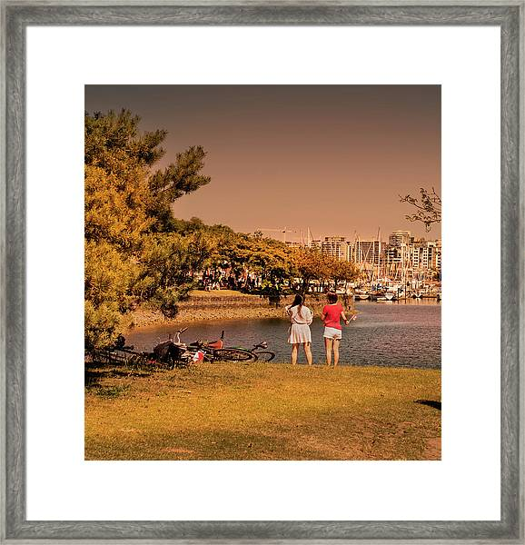Framed Print featuring the photograph Two Girls by Juan Contreras
