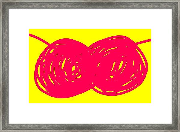 Two Red Cherries Framed Print