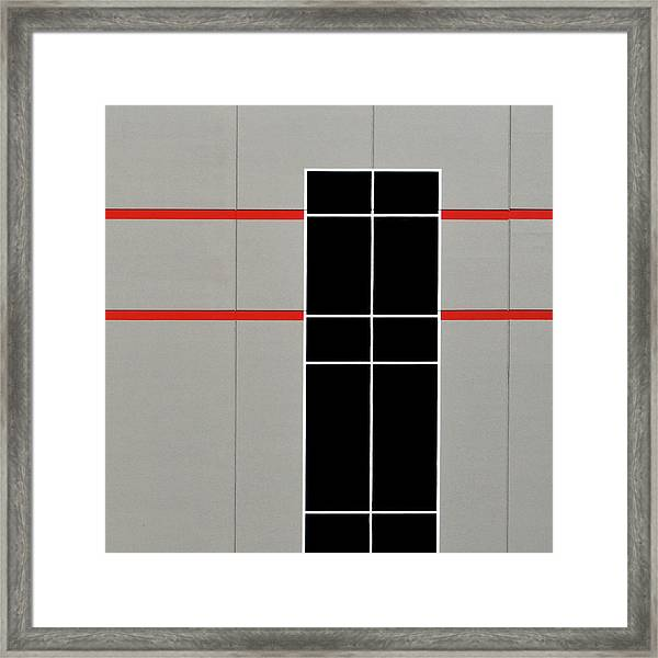 Two Red Stripes Framed Print