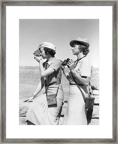 079970458eadd Two Women Both Are Wearing Hats   Light Framed Print by H. Armstrong Roberts