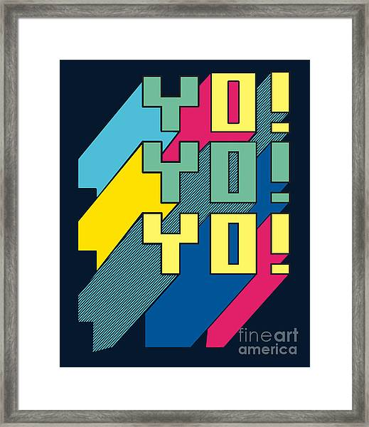 Typography Vector Design For Tee Framed Print