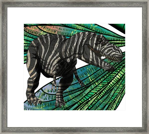 Tyrannosaurus Takes Wings Framed Print
