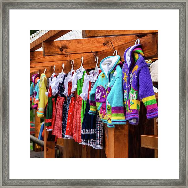 Tyrolean Fashion For Kids Framed Print