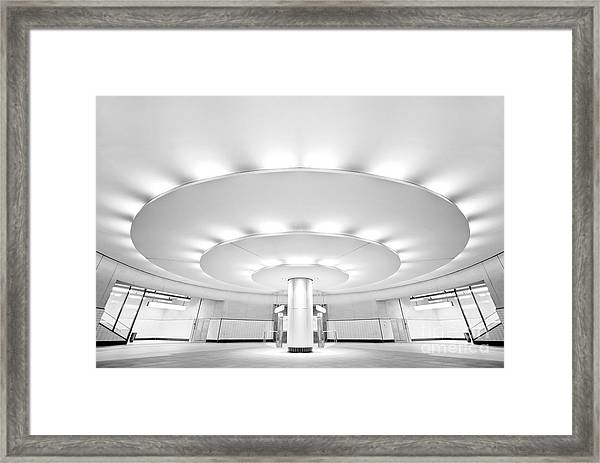 Ultra Modern Black And White Public Framed Print