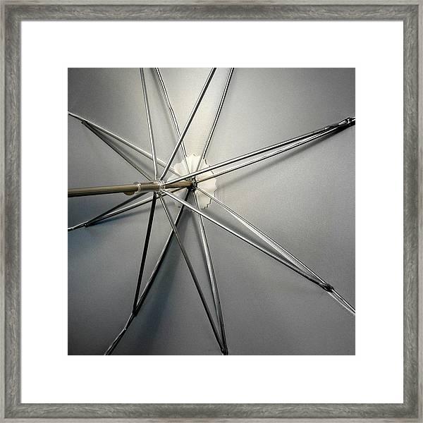 Umbrella Rods Framed Print