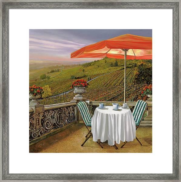 Un Caffe' Nelle Vigne Framed Print