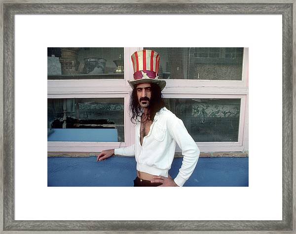 Uncle Zappa Wants You Framed Print by Michael Ochs Archives