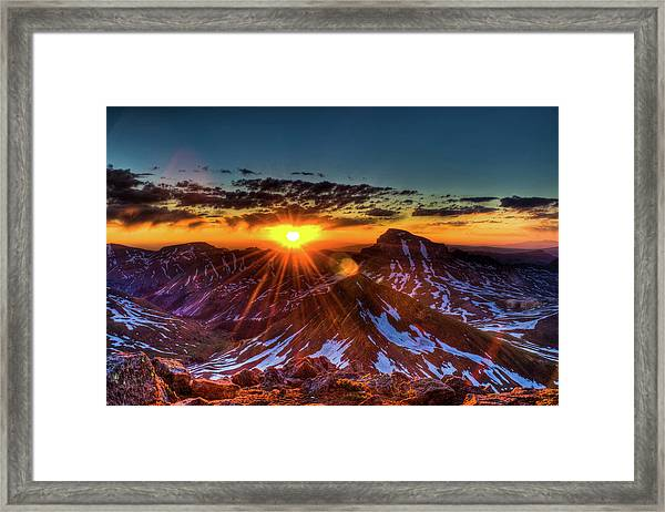 Uncompahgre At Sunrise Framed Print by Photo By Matt Payne Of Durango, Colorado