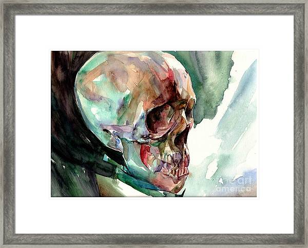 Unconfirmed Skull Framed Print