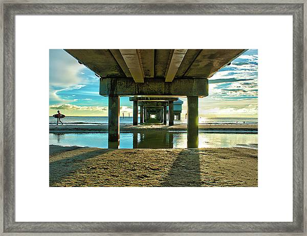 Under Pier 60 Framed Print