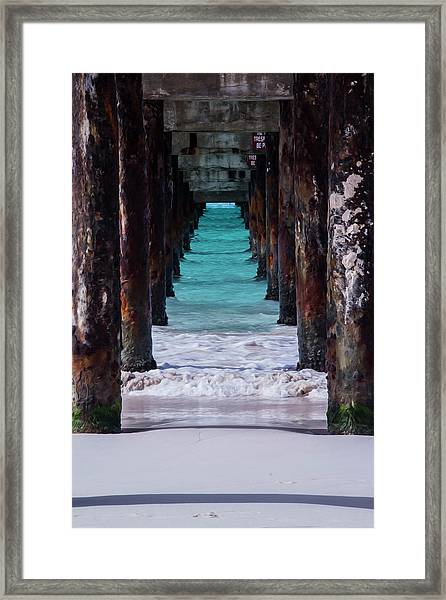 Under The Pier #3 Opf Framed Print