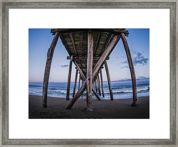 Framed Print featuring the photograph Under The Pier by Steve Stanger