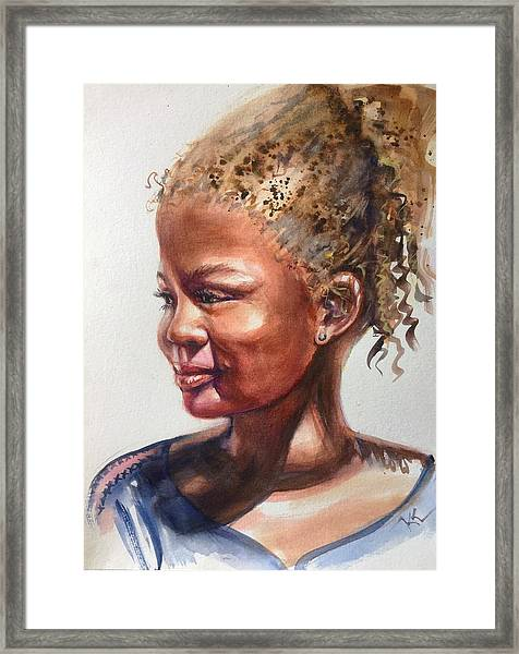 Framed Print featuring the painting Under The Sun by Katerina Kovatcheva