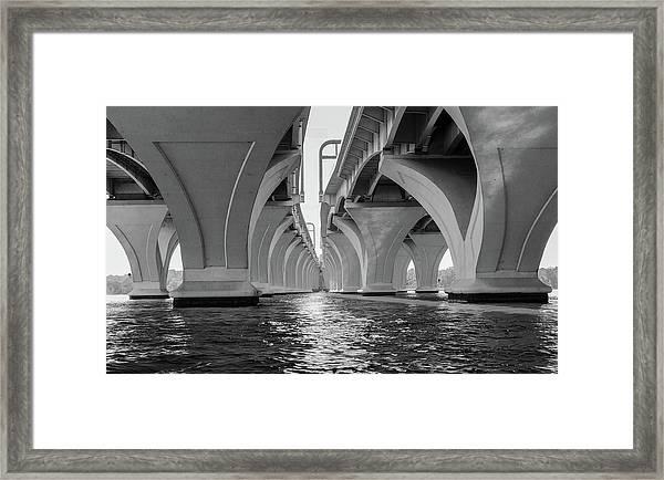 Under The Woodrow Wilson Bridge Framed Print