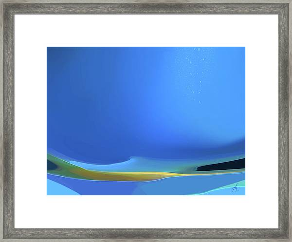 Framed Print featuring the digital art Undercurrents by Gina Harrison