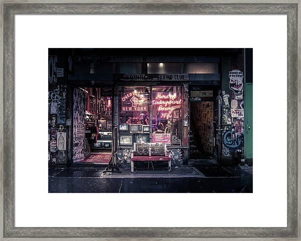 Underground Boxing Club Nyc Framed Print