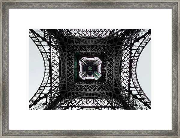 Underneath Of Eiffel Tower, Low Angle Framed Print