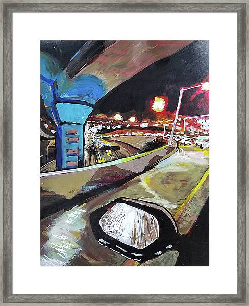 Underpass At Nighht Framed Print