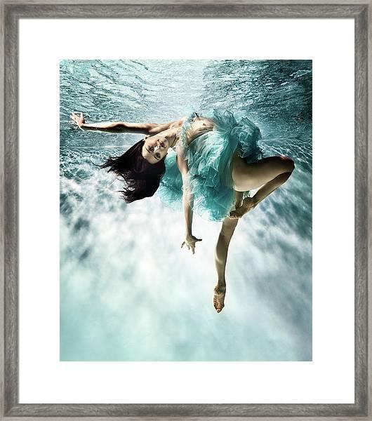 Underwater Ballet Framed Print by Henrik Sorensen