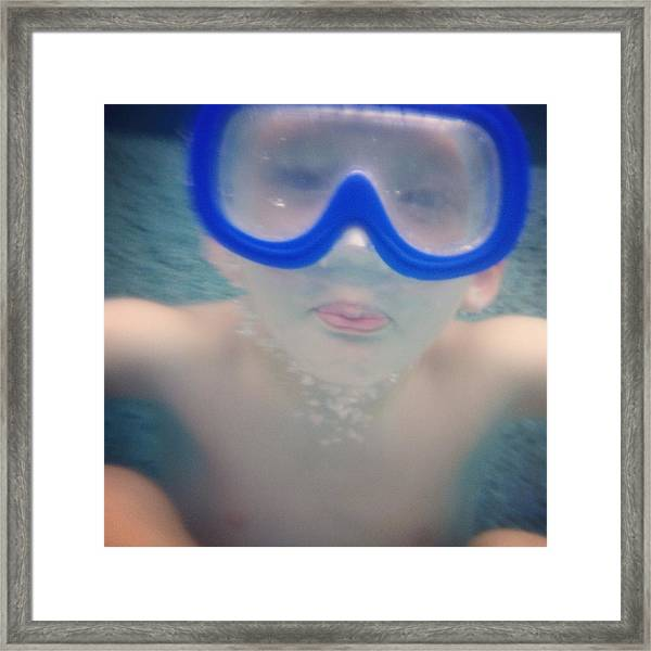 Underwater Fun Framed Print by Jenny Wymore - Sunkissed Photography