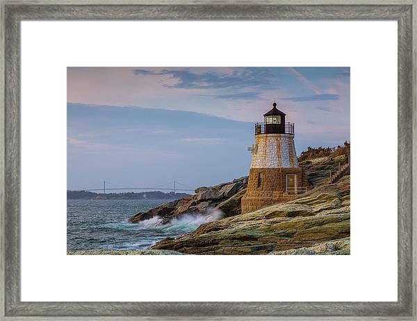 Unfazed By The Encroaching Sea Framed Print