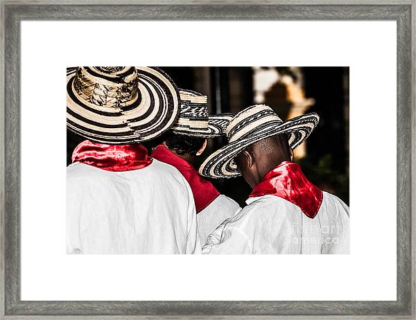 Unidentified Colombian Dancers Framed Print