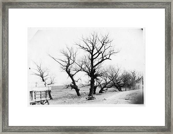 Unidentified Winter Landscape With Framed Print