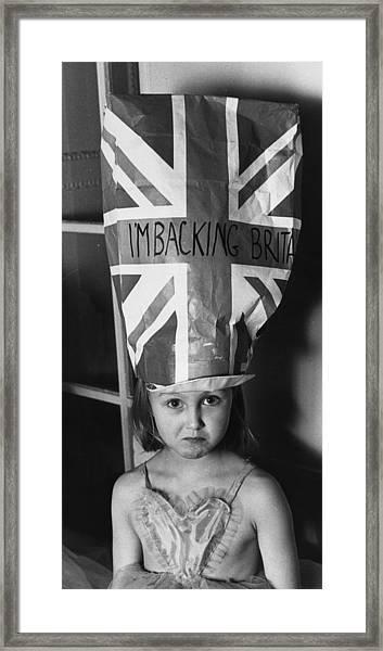 Union Hat Framed Print