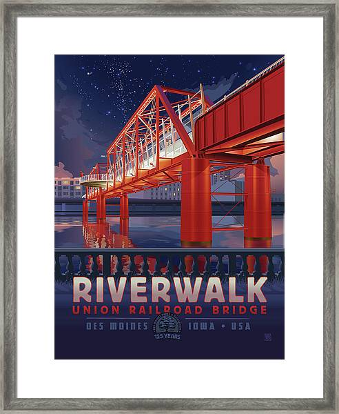Union Railroad Bridge - Riverwalk Framed Print