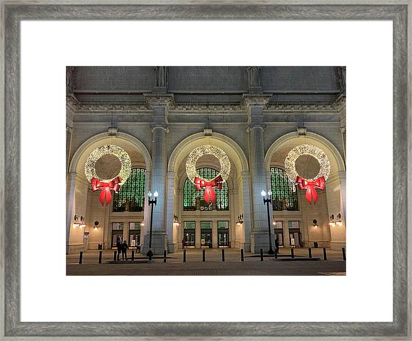 Union Station Holiday Framed Print